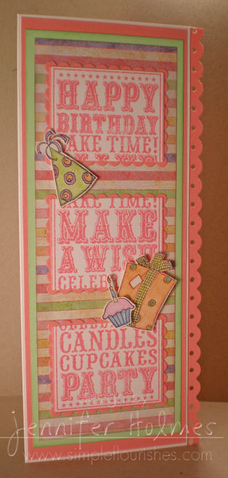 Jennifer Holmes - birthday noteblock 3 section card
