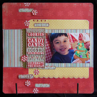 Sonja Mclean - celebrate the season noteblock cookie layout