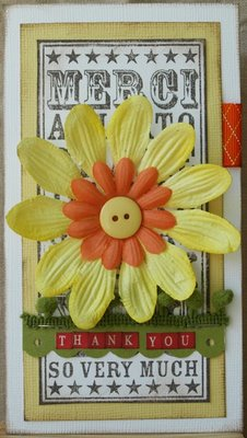 Julie Dudley - Yellow Thank you Noteblock card