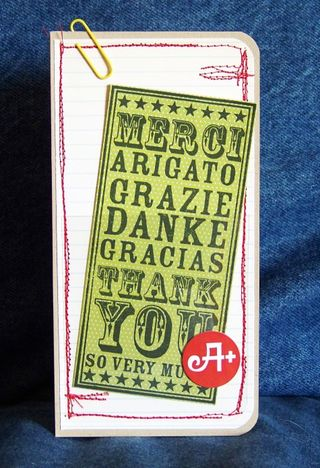 Mandy Starner - Thank you noteblock A+ card