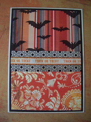 Barbara - trick or treat border tape with bats