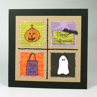 Courtney Kelley - halloween 4 grid card