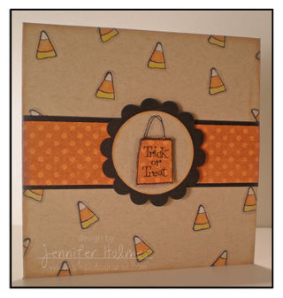 JenniferHolmes - Trick or Treat kraft card
