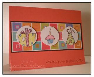 Jennifer Holmes - birthday doodle card