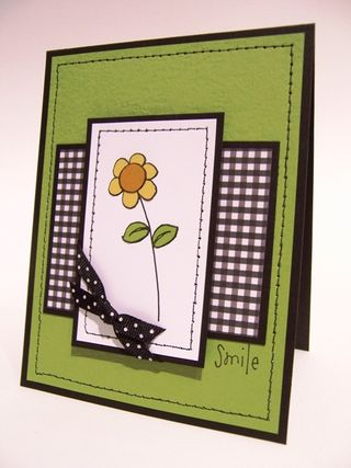 Meg Shumaker - Doodle Flower Sentiment Card