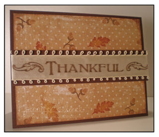 Jennifer Holmes - Thankful card