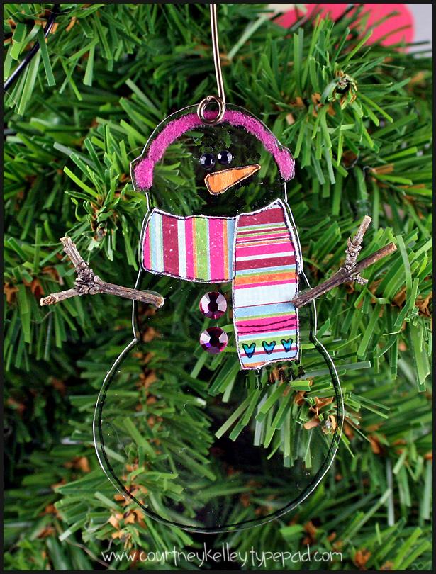 Courtney - Trasnparent Snowman Ornament