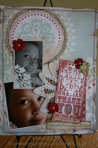 Jenn B - Thank You Noteblock - Damask Layout