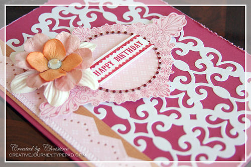 Christine - Pink Birthday Card