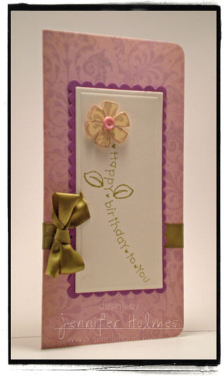 JenniferHolmes - Happy Birthday Stem Flower Card