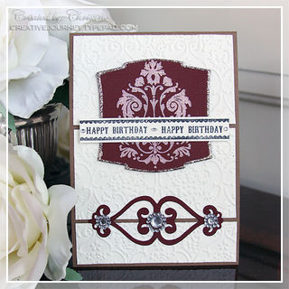 Christine - Happy Birthday Damask