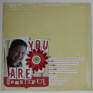 Jenn B - You are beautiful layout