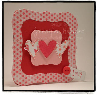 JenniferHolmes - Love Card Label One shape