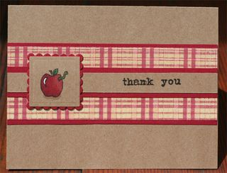 Teacher Thank You - Grid Plaid