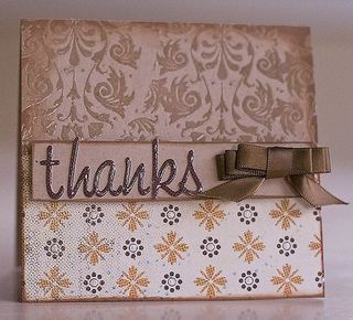Laura - thanks damask card