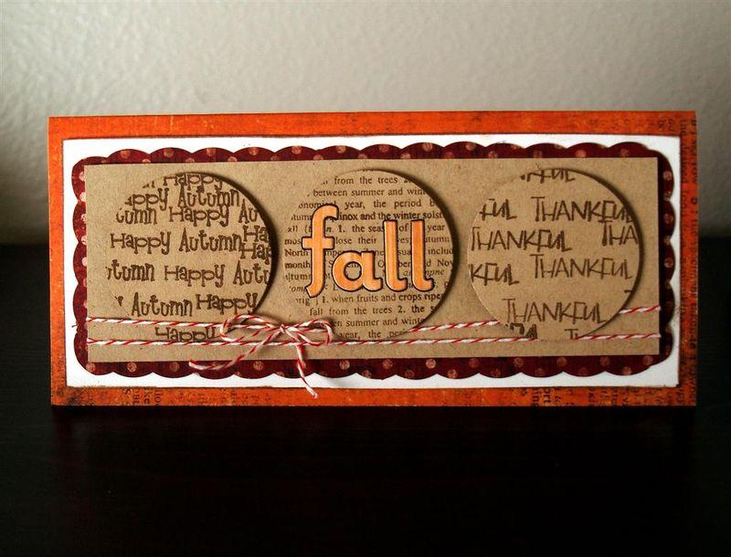 Fall Circle Card