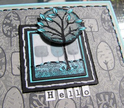 Mel - Tree turq & grey card