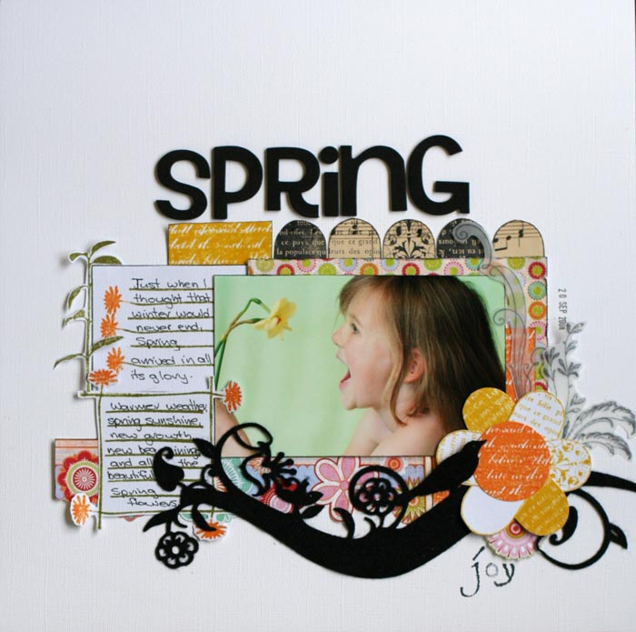 Lesley Cooper - Spring Joy Layout