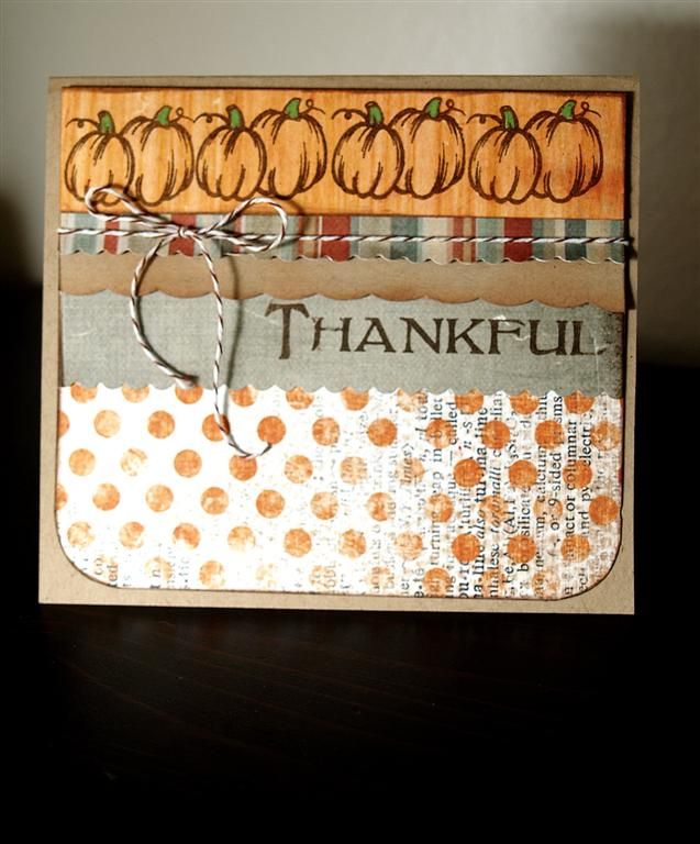 Heidi - thankful pumpkin card