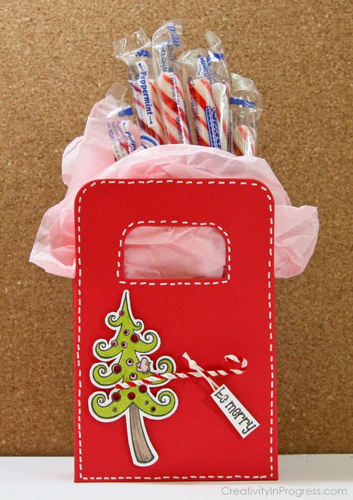 Sunghee - Swirly tree peppermint stick bag