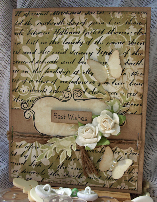 Julie Dudley - Best Wishes Card