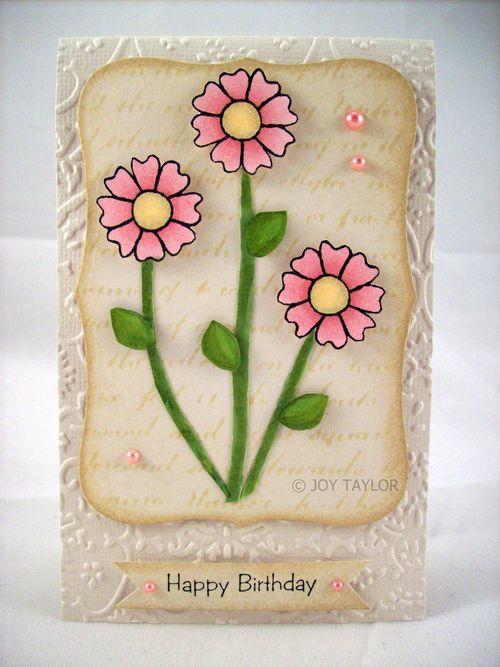 Joy Taylor - Happy Birthday - Doodle Flowers