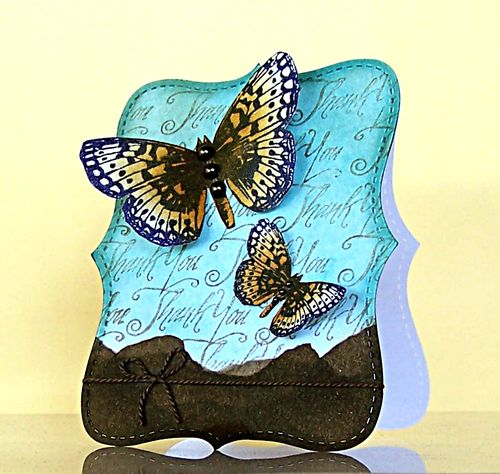 Jill Foster - Butterfly Thank You card