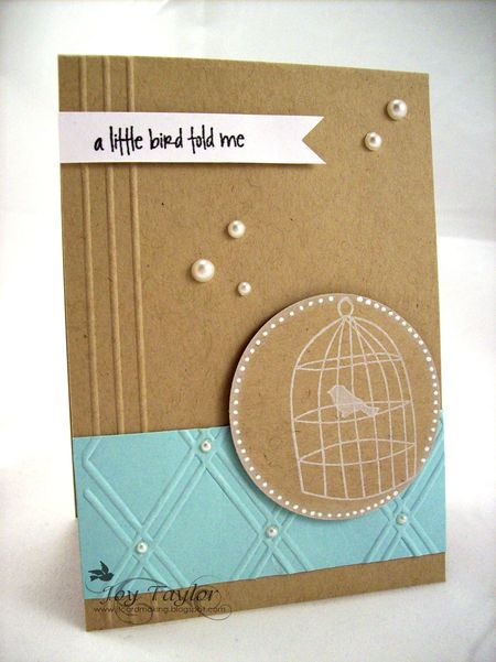 Joy Taylor - A Little Bird Told Me Card