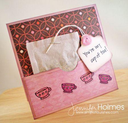 Jennifer Holmes - Tea Bag Card