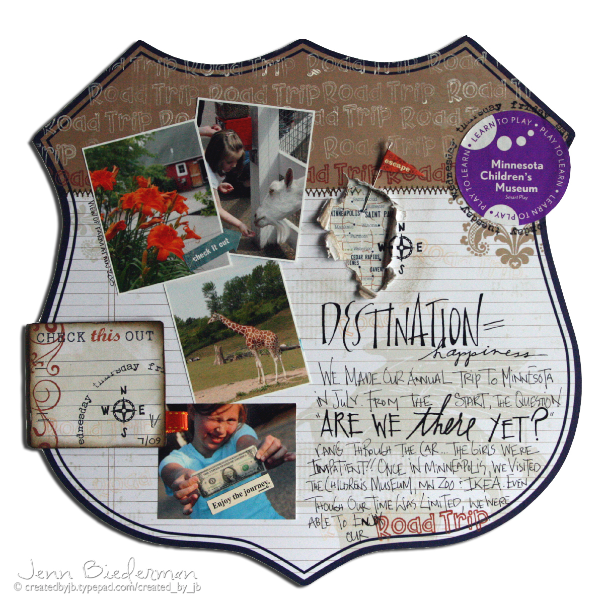 Jenn Biederman - Vacation Layout