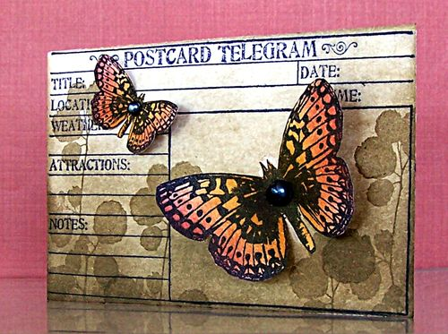 Jill Foster - Butterfly Postgram card