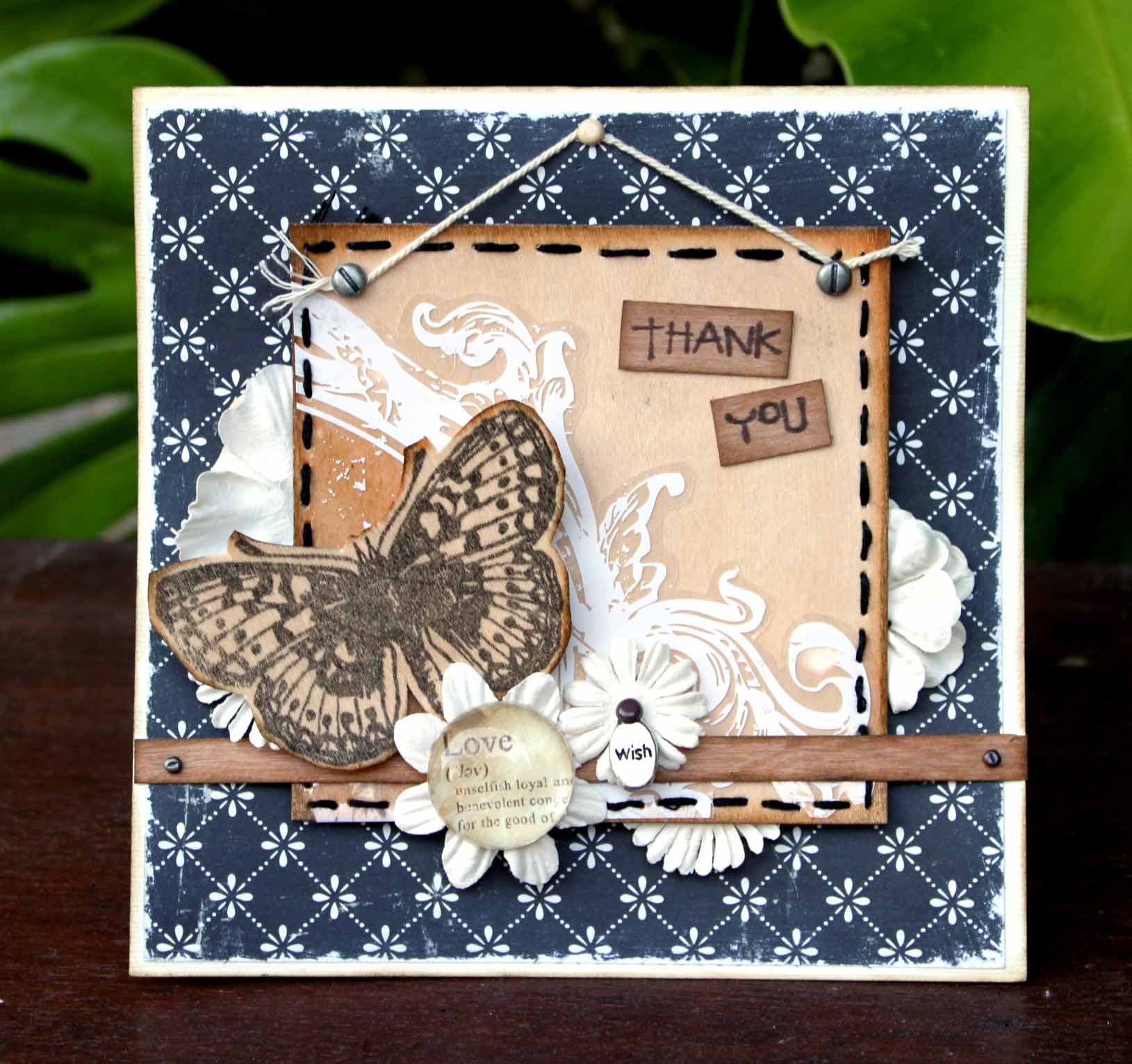 Sharon Ong - Thank You Butterfly Card
