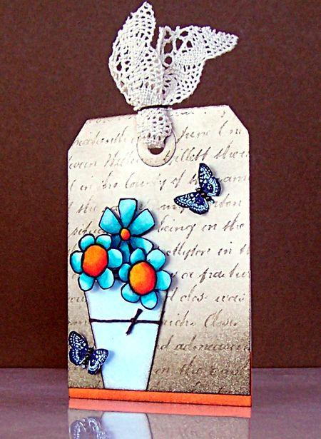 Jill Foster - Doodle Flower Sentiment Tag