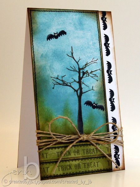 Jenn Biederman -Trick or Treat Halloween Card
