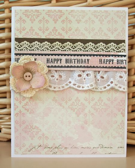 Julie dudley - happy birthday eyelet card