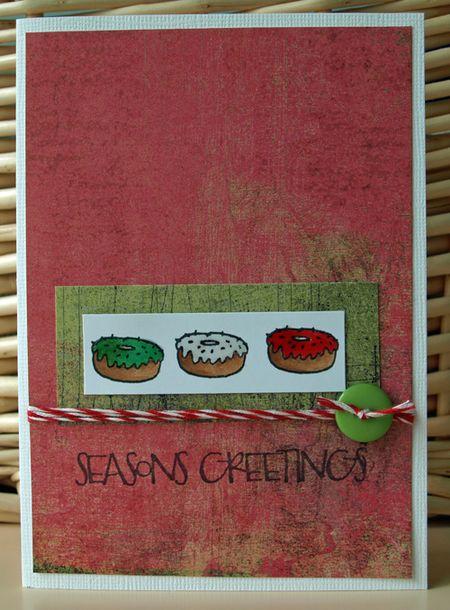 Julie Dudley - Season Greetings Doughnuts