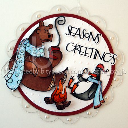 Jenn Biederman - Arctic Wonderland Penguin Ornament