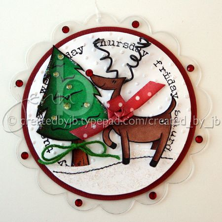 Jenn Biederman - Arctic Wonderland Reindeer Ornament