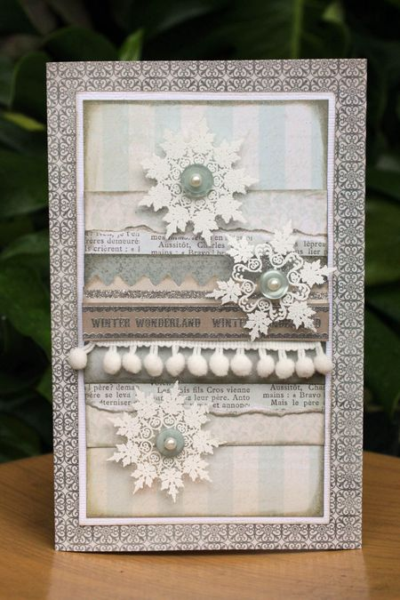 Sharon Ong - Winter Wonderland Snowflake Card