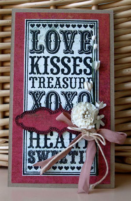Julie Dudley - Love Noteblock Card