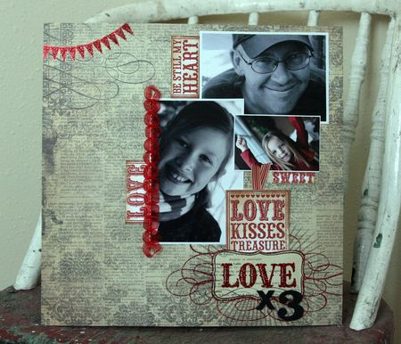Jenn Biederman - Love x3 Layout