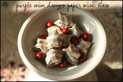 Music Paper Stars - cu