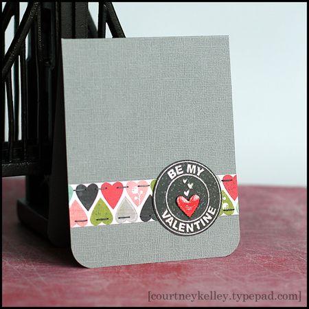 Courtney Kelley - Be My Valentine Logo Heart Card