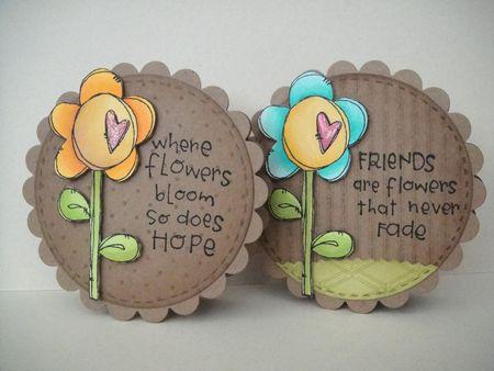 Donna Mikasa - Round Heart Flower Cards