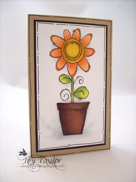 Joy Taylor - Pot-a-Flower Card