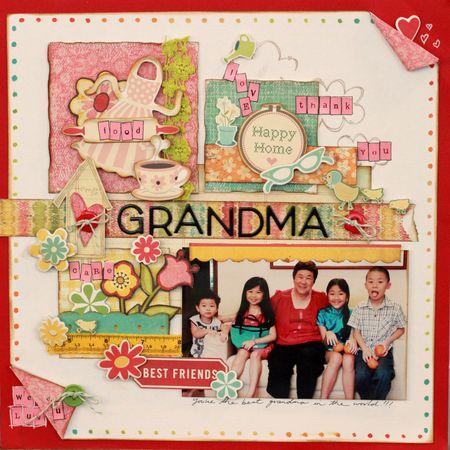 Sharon Ong - Grandma Layout
