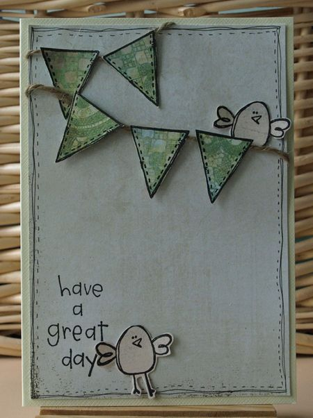 Julie Dudley - Have a great day banner card
