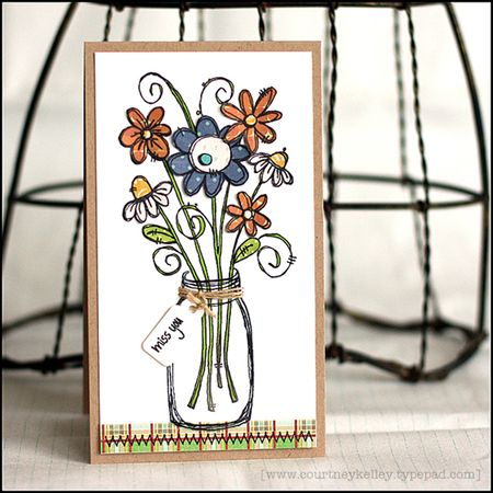 Courtney Kelley - Blooming Flowers Jar Card