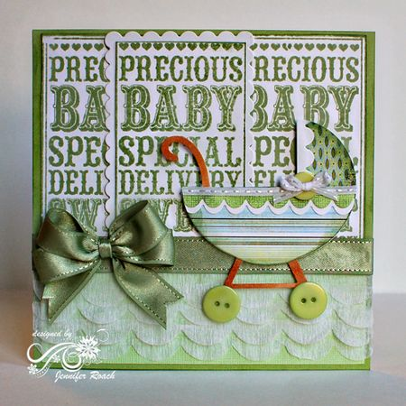 Jennifer Roach - Baby Carriage Noteblock Card
