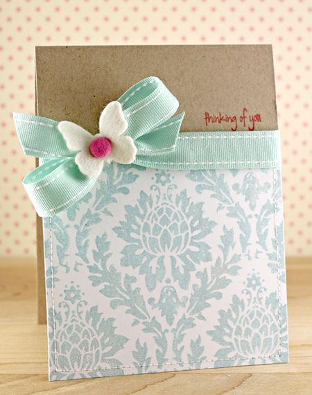 Carly Robertson - Thinking of You Damask Card